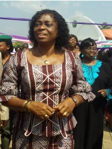Chief Mrs. Josephine Elechi at a public event in Ebonyi State
