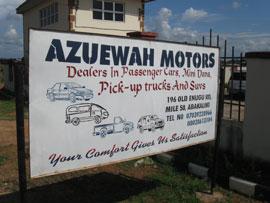 Azuewah Motors signboard
