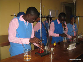 Students of Reach Continental Schools in a physics class