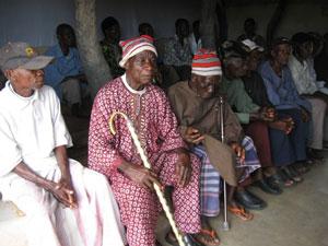 Elders deliberating on a dispute in Edda, Ebonyi State, Nigeria