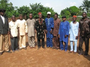 One of the traditional rulers in Ikwo with members of his cabinet