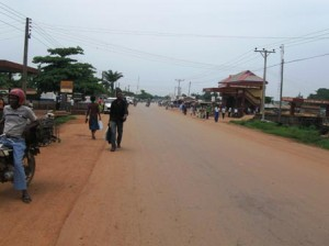 A view of Onueke (along Abakaliki-Afikpo Road)