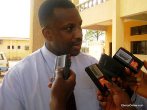 Edward Nwachi, Founder of EbonyiOnline, addressing media questions on EbonyiOnline.com