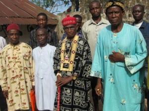HRM Daniel Ibiam Afa (middle) is the 24th Ezeogo of Edda